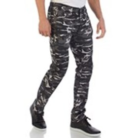 Mens Skinny Fit Moto Camo Jeans