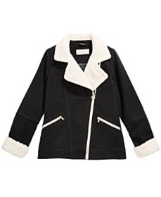 Big Girls Faux-Fur-Trim Aviator Jacket