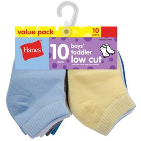 Hanes Low Cut Socks, 10-Pack (Baby Boys)