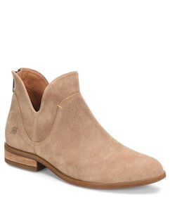 Born Arula Distressed Suede Side Cut-Out Booties