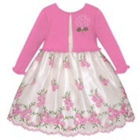 AMERICAN PRINCESS Toddler Girls Floral Embroidered