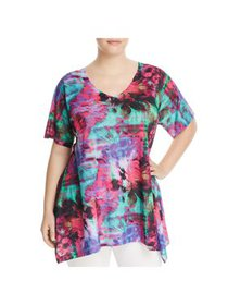 Nally & Millie Womens Floral Print Elbow Sleeves C