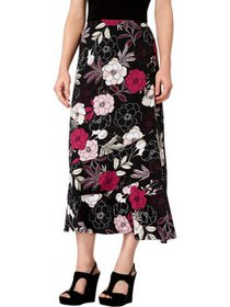 NY Collection Womens Petites Floral Print Mid-Calf