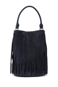 Burberry Fringe Suede Bucket Bag