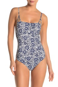 Splendid Check Please One Piece Swimsuit