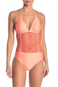 Ella Moss Crochet One-Piece Swimsuit