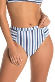 Splendid Stripe High Waist Bikini Bottoms