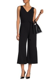 TASH + SOPHIE Sleeveless Cropped Jumpsuit