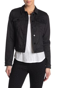 William Rast Lenna Sparkle Coated Denim Jacket
