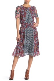 Johnny Was Sonny Mixed Floral Print Dress