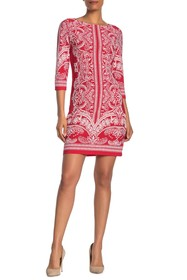 TASH + SOPHIE Geo Printed Shift Dress