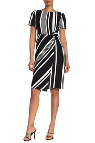 TASH + SOPHIE Side Knot Stripe Dress