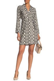 TASH + SOPHIE Wrap Python Printed Dress
