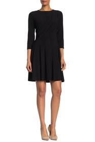 TASH + SOPHIE Draped Quarter Sleeve Dres