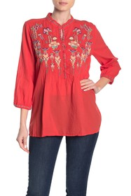 Johnny Was Brenda Floral Embroidered Tunic