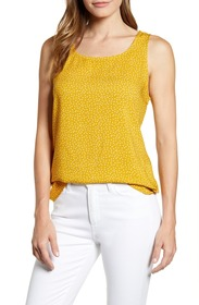 Loveappella Easy Scoop Neck Woven Tank