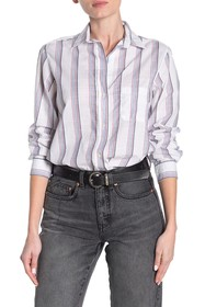 GRAYSON The Hero Washed Stripe Print Cotton Shirt