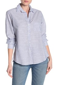 GRAYSON The Hero Washed Star Print Cotton Shirt