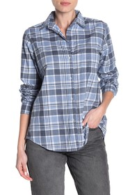 GRAYSON The Hero Washed Plaid Print Cotton Shirt