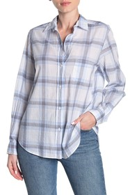 GRAYSON The Hero Plaid Print Tissue Cotton Shirt