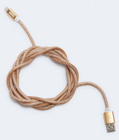 Aeropostale Glittery 6' Lightning-To-USB Cable