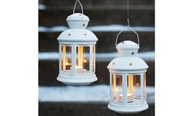 2 Pieces Home Decor Lantern for Tealight Indoor an