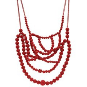 Simply Vera Vera Wang Red Statement Frontal Neckla