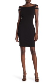 Betsey Johnson Off-the-Shoulder Bodycon Dress