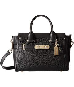 COACH Pebbled Leather Coach Swagger 27