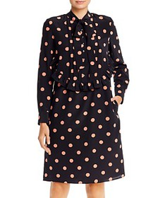 Tory Burch - Dot-Printed Silk Dress