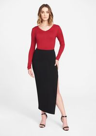 Tall Ponte Knit Skirt
