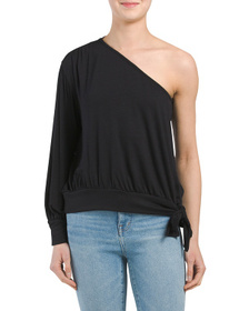 KIM & CAMI Made In Usa One Shoulder Date Night Top