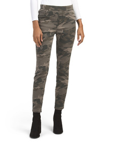 SOUND STYLE Camo Ankle Pull On Skinny Jeans
