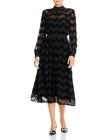 Tory Burch - Velvet Devoré Midi Dress