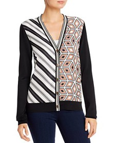 Tory Burch - Mixed-Print Merino-Wool Cardigan