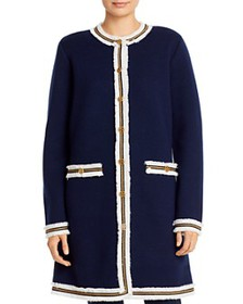 Tory Burch - Kendra Fringe-Trimmed Sweater Coat