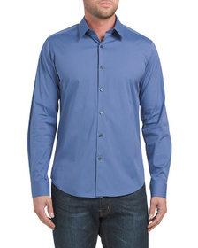 Reveal Designer Slyvain Slim Fit Long Sleeve Shirt
