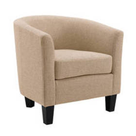 Linen Home Décor Enzo Tub Chair - Tan