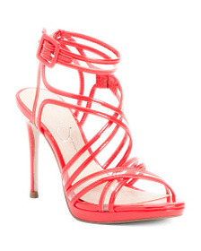 JESSICA SIMPSON Patent Strappy High Heel Sandals