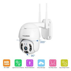 FLOUREON 1080P HD Wireless IP Camera Dual Light Wi