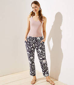 Floral Tapered Jogger Pants