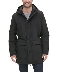 Kenneth Cole New York Men's Hooded Drawcord Jacket