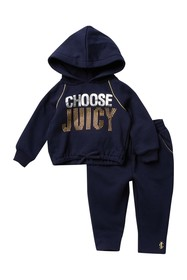 Juicy Couture Embellished Logo Pullover Hoodie & P
