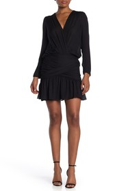 A.L.C. Haven Long Sleeve Ruched Silk Dress