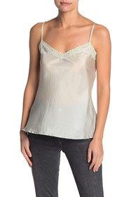Johnny Was Satin Lace Trim Camisole