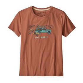W's Live Simply Lounger Organic Crew T-Shirt, Cent