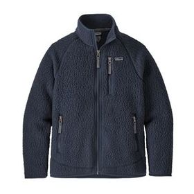 Boys' Retro Pile Jacket, New Navy (NENA)