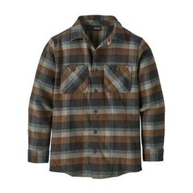 Boys' Fjord Flannel Shirt, Observer: Ink Black (OB