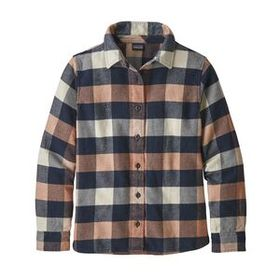 Girls' Fjord Flannel Shirt, Upriver: Century Pink