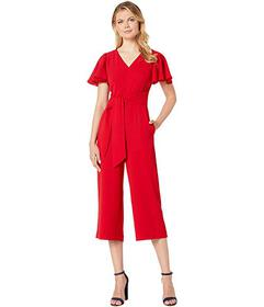 Tahari by ASL Stretch Crepe Cropped Leg Jumpsuit w